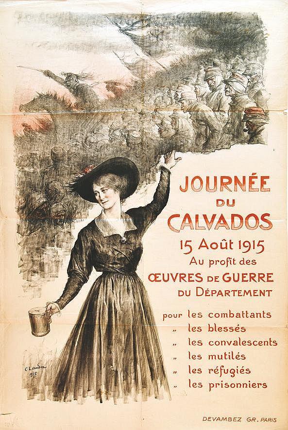 LEANDRE C.  Journee du Calvados15 Août 1915 - Œuvre de guerre du Département Guerre du Department     1915