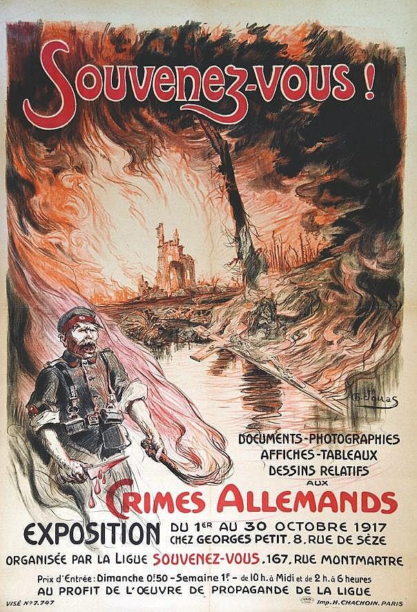 JONAS Souvenez- vous ! - Crimes Allemands 1917