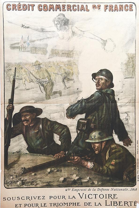 JONAS  Crédit Commercial de France - Souscrivez Pour la Victoire - Pour le Triomphe de la Liberte     1918