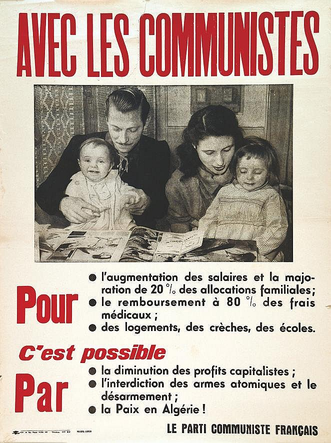 Avec les Communistes : Augmentation des salaires… la Paix en Algérie     1958