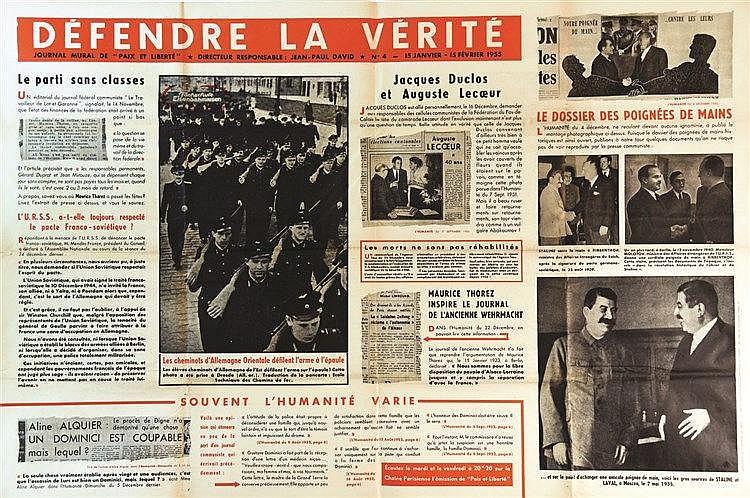Défendre La Vérité - Paix et Liberté 1955