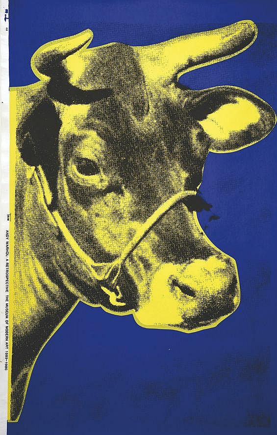 WARHOL ANDY  Yellow Cow - Museum of Modern Art     1989