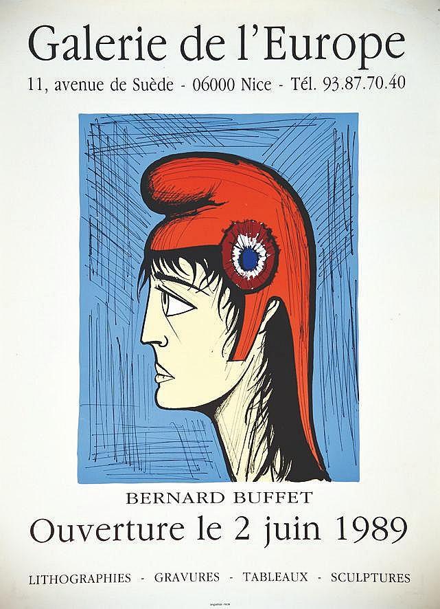 BUFFET BERNARD  Galerie de l'Europe     1989