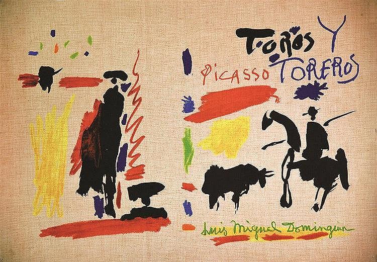 Torros y Torreros Luis Miguel Dominguin ( Couverture non pliée imprimée sur Toile ) vers 1960