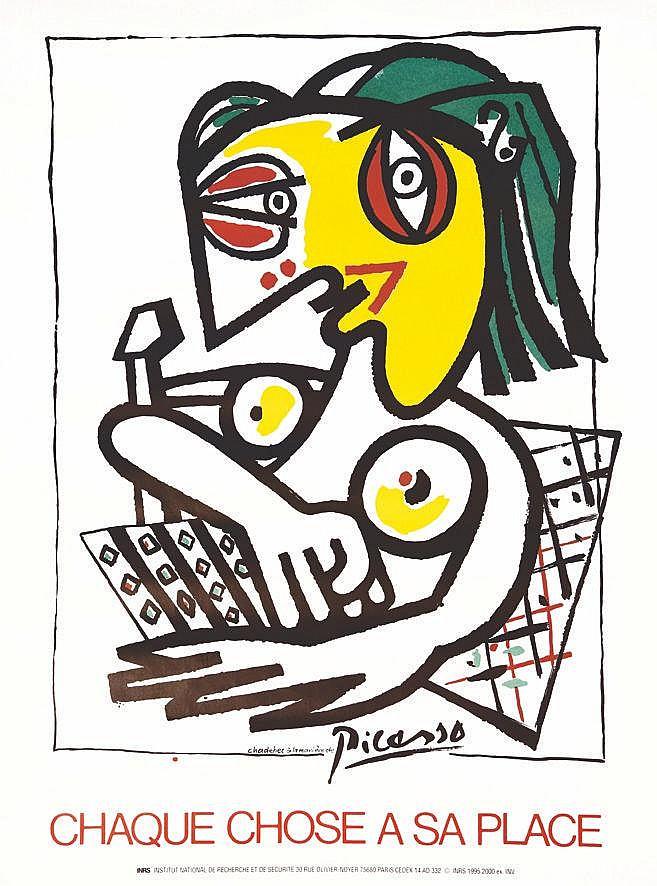 CHADEBEC Chaque chose à sa Place Chadebec à la manière de Picasso inrs 1995