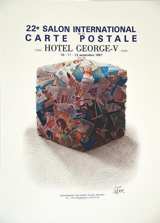 CESAR César - 22e Salon International Carte Postale - Hôtel George V 1987 1987
