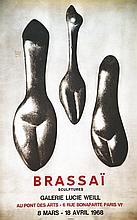 BRASSAÏ ( Gyula Halász )  Brassaï Galerie Lucie Weill     1968
