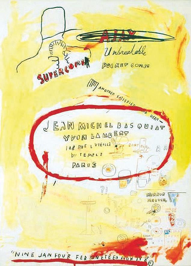 BASQUIAT JEAN MICHEL  Jean Michel Basquiat -Supercombas     1988