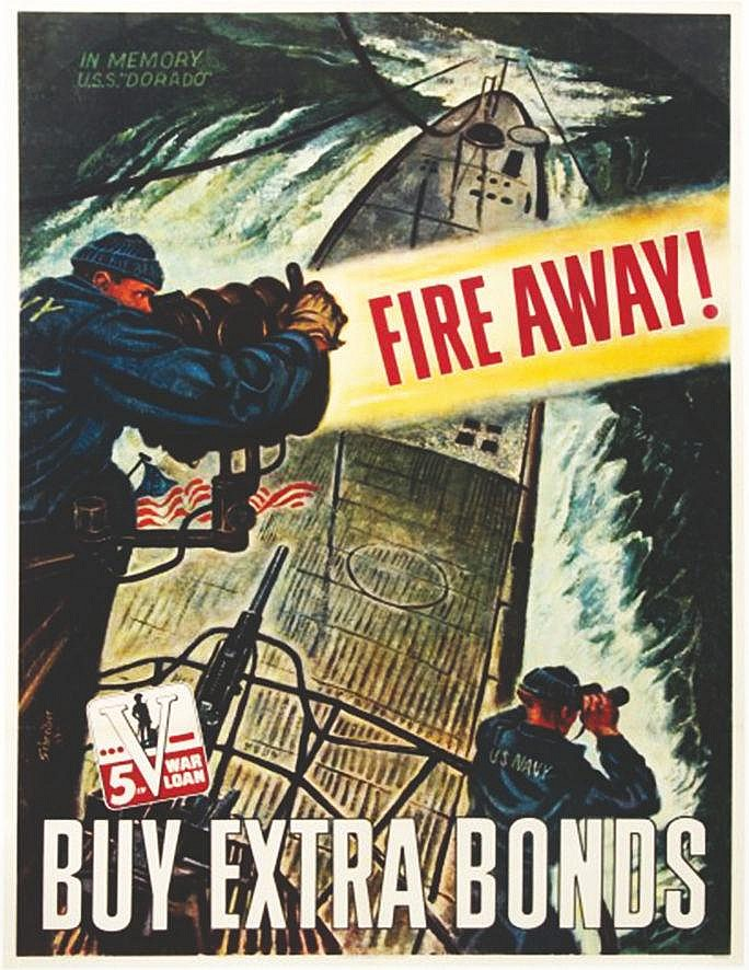 SCHREIBER  Fire away Buy Extra Bonds, for the 5th War Loan     1944