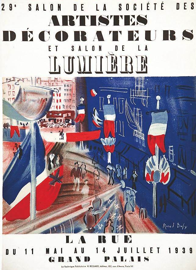 DUFY RAOUL  Artistes Décorateurs et salon de la Lumière     1939