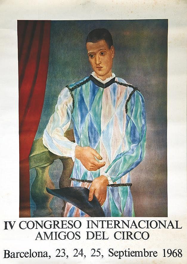 PICASSO PABLO  IV Congresso Internacional Amigos del Circo Barcelona 1968     1968