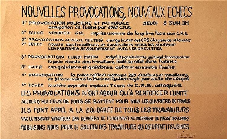 Nouvelles Provocations , Nouveaux Echecs 1968