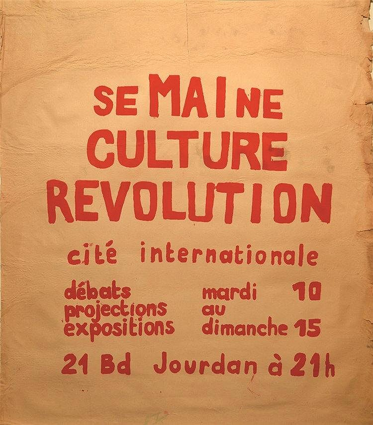 SeMAIne Culture Révolution     1968