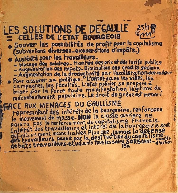 Les Solutions de De Gaulle 1968