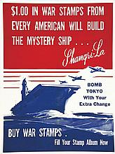 $1.00 In War Stamps From Every American Will Build The Mystery Ship…     1943