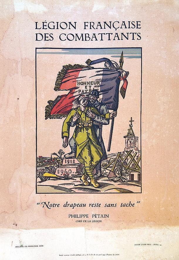 Légion Française des Combattants - Notre drapeau reste sans tâche     1941
