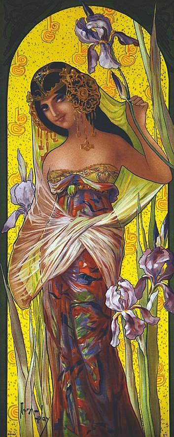 GOLAY MARY  Iris     vers 1900