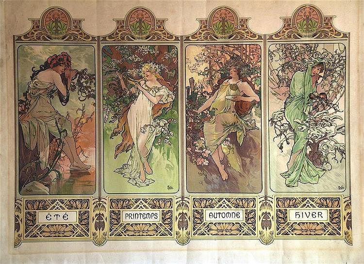 MUCHA ALPHONSE Les Quatre Saisons 1896