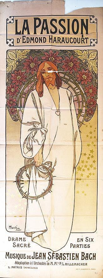 MUCHA ALPHONSE La Passion d'Edmond Haraucourt 1904