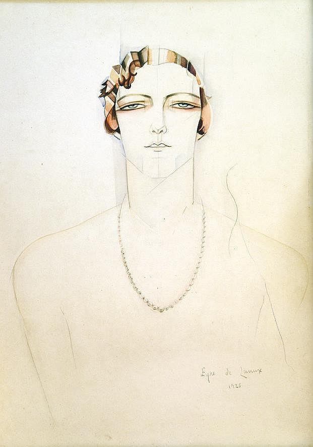 EYRE DE LANUX ELISABETH Henriette Bénard - Aquarelle signée par Elisabeth Eyre de Lanux 1925