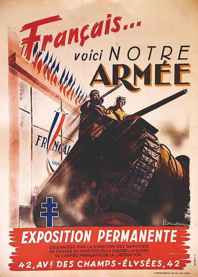 BAUDOUIN  P.  Français voici notre Armée Exposition permanente Champs Erlysées     1945