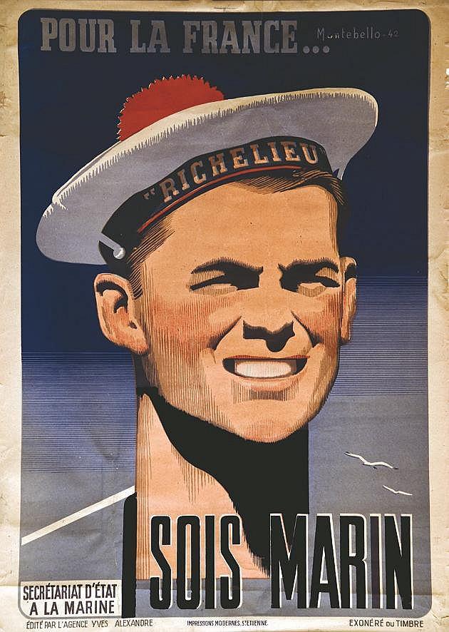 MONTEBELLO  Pour la France … Sois Marin     1942
