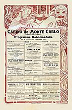 Casino de Monté Carlo Programme hebdomadaire 30 01 au 5 02 1922 1922