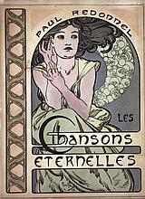 Chansons Eternelles Paul Redonnel - Couverture de livre en Litho / Book Cover in Lithograph 1898