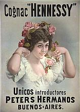 Cognac Hennesy     vers 1900  Buenos Aires ( Argentine )