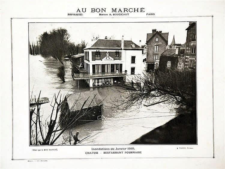 maison fournaise inondations 1910 au bon march 1910 ch tou. Black Bedroom Furniture Sets. Home Design Ideas