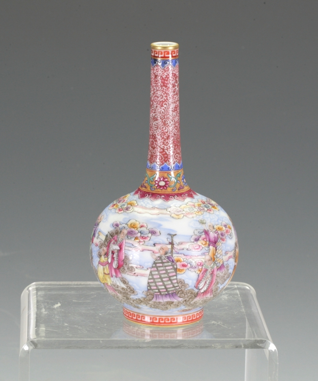 Enamel Bottle Vase