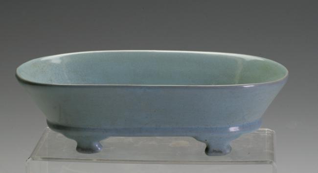A Celadon Blush Washer