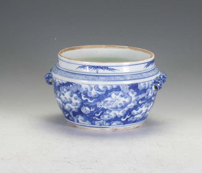 Blue And White Sugar Jar