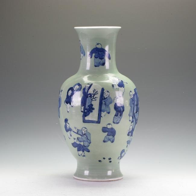 Bean Grain Glazed Vase