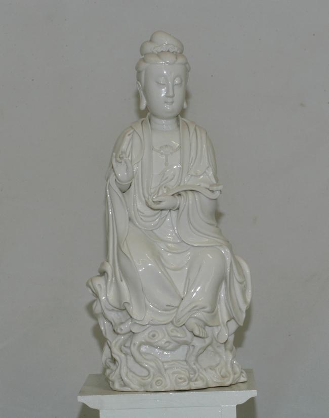 Very Large Dehua Guang Ying Figure
