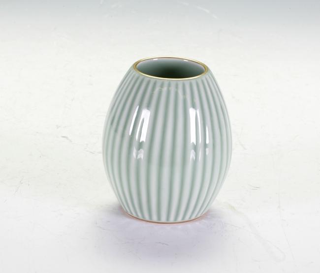Melon Shaped Celadon Vase