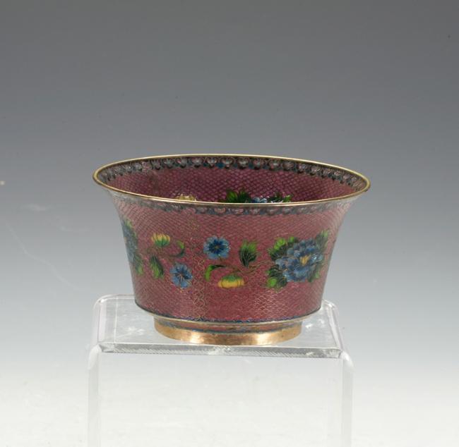 Enamel Glass Bowl