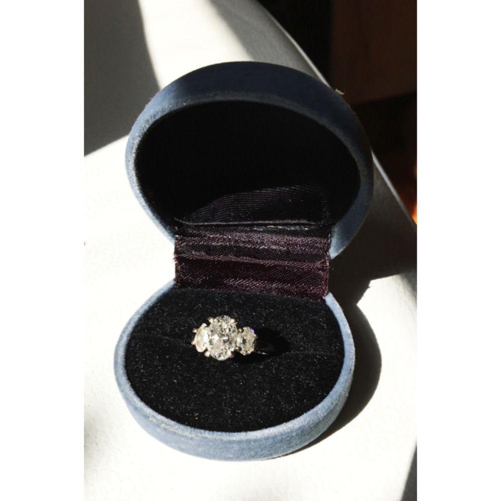 Three set diamond ring