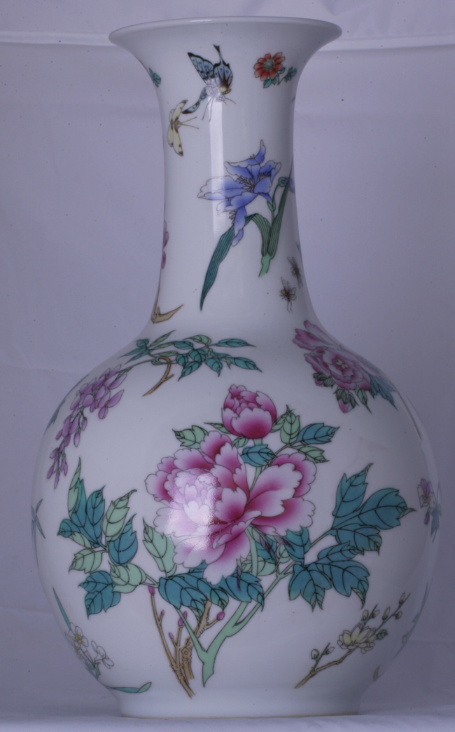 A Modern Chinese Vase for a Lamp Base