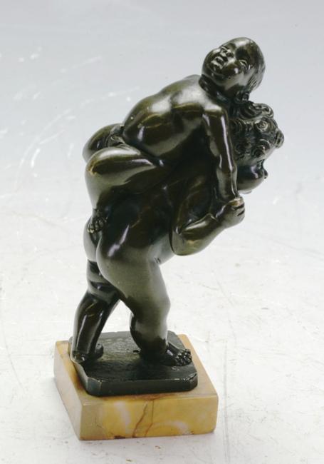 Bronze figurine group