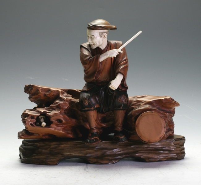 A Boxwood figure