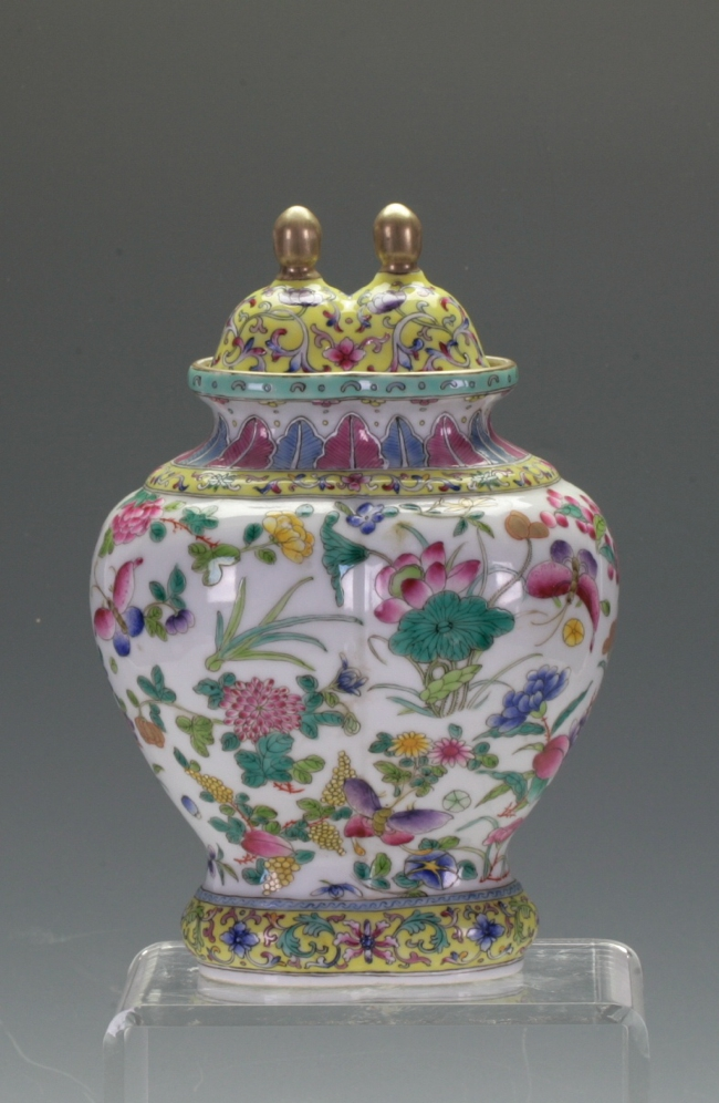 A Chinese Double conjoined Vase