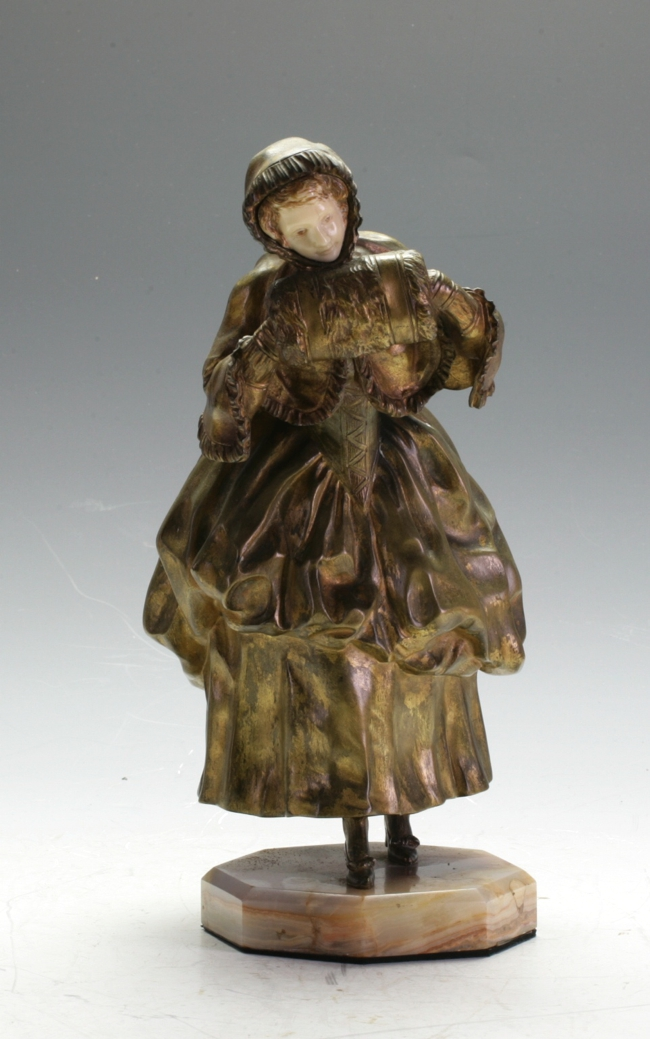 Bronze and Ivory Figure