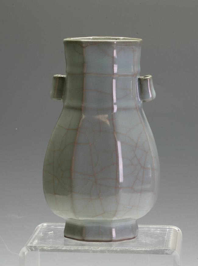 A celadon vase