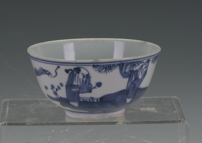 Vintage  blue and white bowl