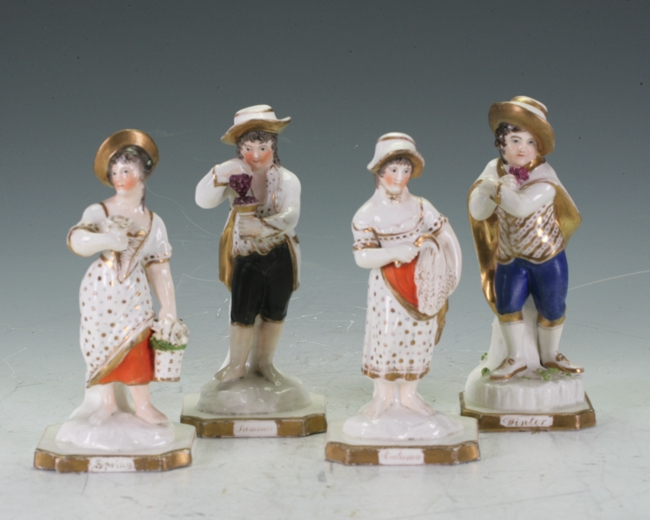 A group of Derby figurines