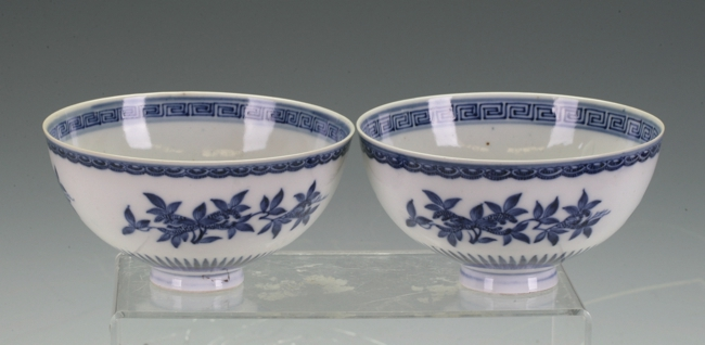 A pair of chicken heart bowls