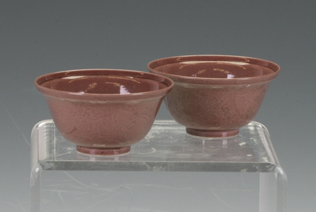 A pair of tea bowls