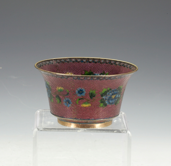 Enamel Glass Bowl