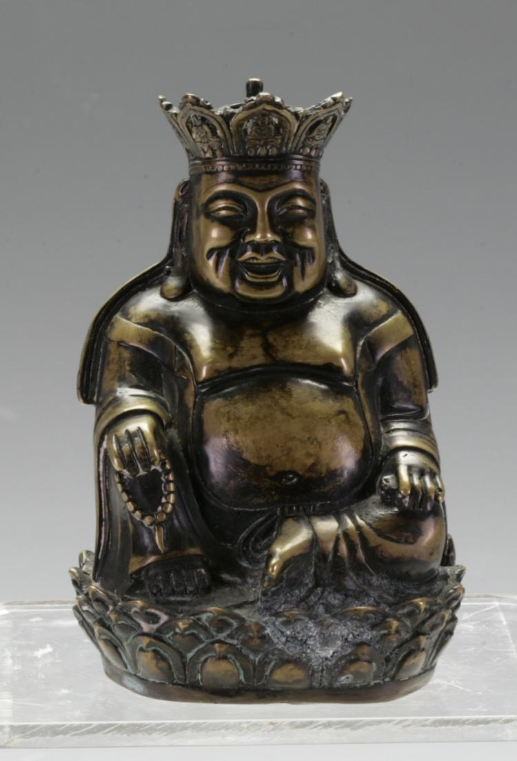 Vintage Chinese Bronze Gilt Figure